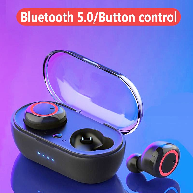A2 TWS Wireless Bluetooth 5.0 Earphones HiFi Stereo Sports Waterproof Earbuds Headsets with Charging