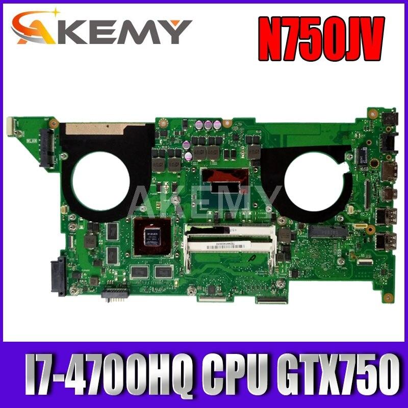 SAMXINNO N750JV ل ASUS N750JV N750JK اللوحة الأم I7-4700HQ CPU GTX750 اللوحة المحمول REV2.0/2.1 اللوحة الرئيسية اختبار OK