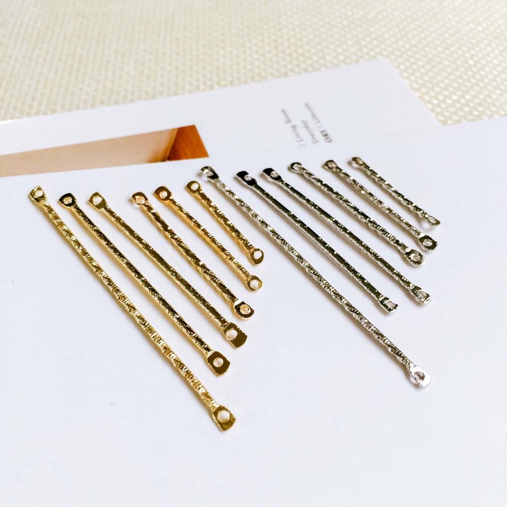 Metal Stick White K pins de color oro colgante conectores para collar para Diy Material joyería encontrar haciendo 20 piezas
