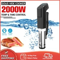 2000w precision slow cooker touch screen lcd digital display vacuum sous vide cooker immersion circulator accurate temperature