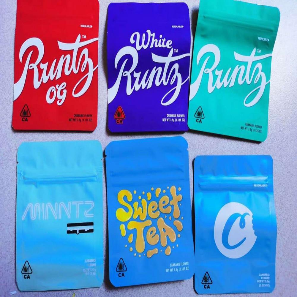 100pcs Runtz Medibles Nerds Rope Sharklato candy Mylar packing Bags free shipping