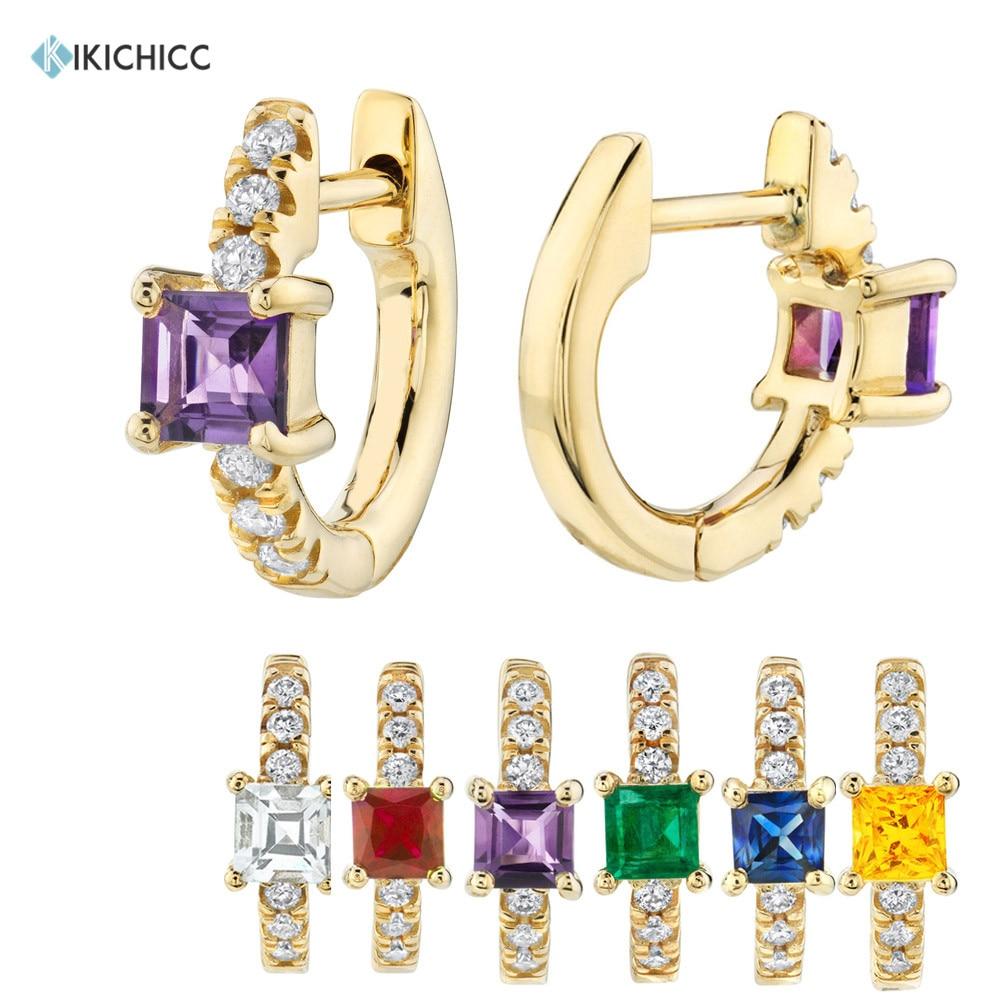 Kikichicc 925 prata esterlina pequenos huggies 8mm zircão roxo mini aros brincos cluster cz multi círculos jóias para mulher