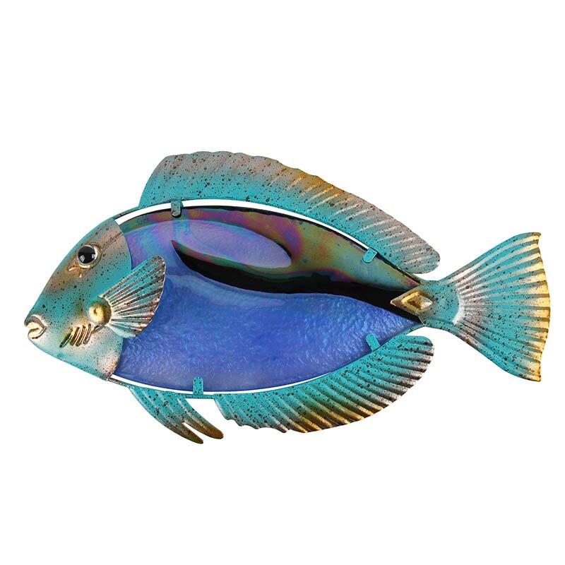ديكور حائط على شكل سمكة حيوانية فاخرة ، منحوتات حديقة ، تماثيل حيوانات وجارديريا خرافية