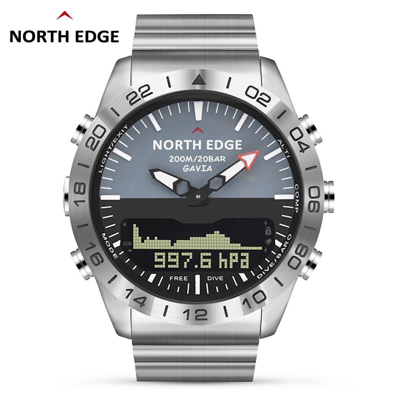 Men Dive Sports Digital watch Mens Watches Military Army Luxury Full Steel Business Waterproof 200m