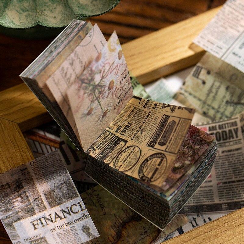 365 hojas vintage poesía de plantas Bloc de notas transparente hoja suelta Bloc de notas escuela Oficina suministro Escolar papelería de regalo