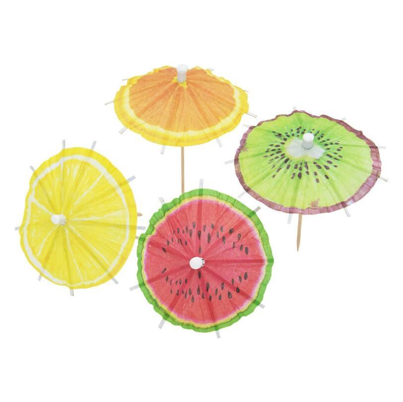 20PCS sandía/hojas de coco de paraguas de papel pastel Topper recoge/Cocktail/sombrillas bebidas recoge cumpleaños/de la boda decoración de la fiesta