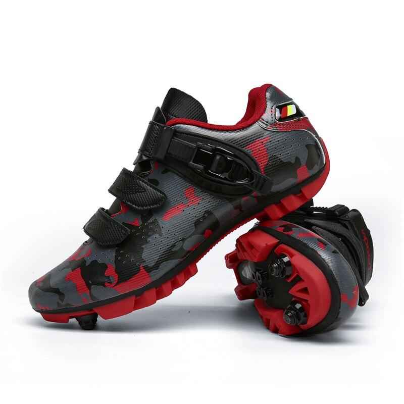 2021 New Style Unisex Hot Sale Sapatilha Ciclismo MTB Electronic Bike Cycling Shoes Men Women Self-Locking Luminous MTB Sneakers