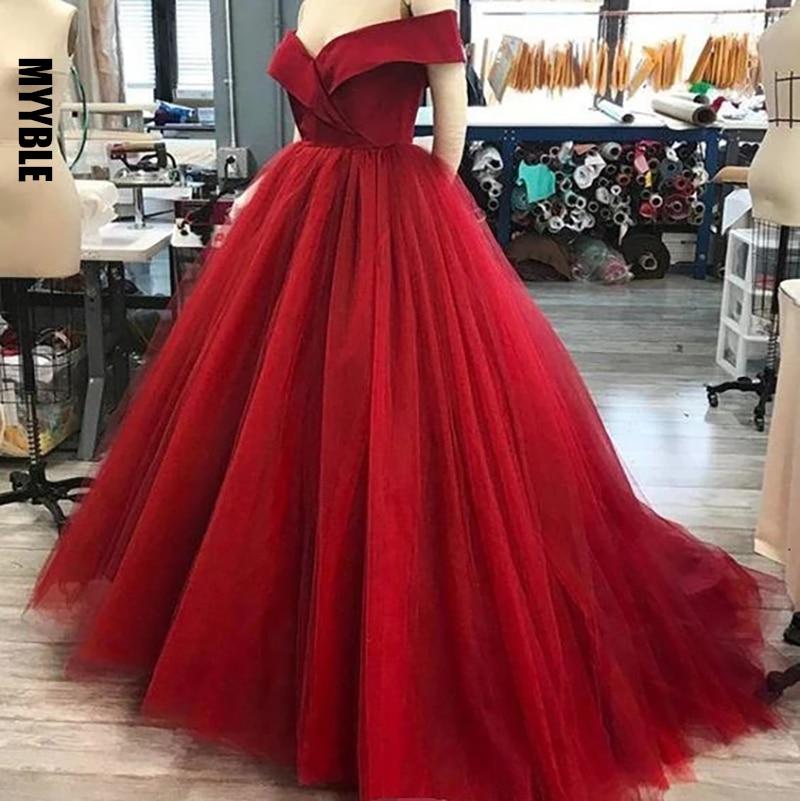 Fora do ombro vestidos de baile vestidos de baile drapeado cetim topo tribunal trem vestidos de quinceanera doce 16 vestido