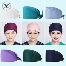 Solid Color Work Scrubs Hats Health Workers Work Scrubs Cap Beauty Salon Work Hats Lab Caps Pet Groo