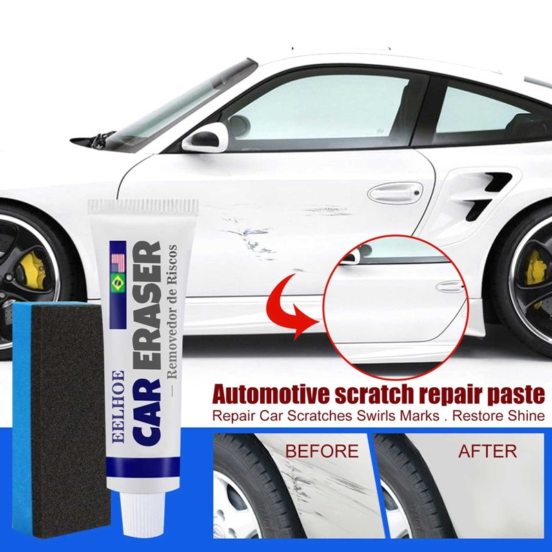 Инструмент для удаления царапин и завитков на автомобиле, восковая Губка для полировки и ремонта царапин на автомобиле