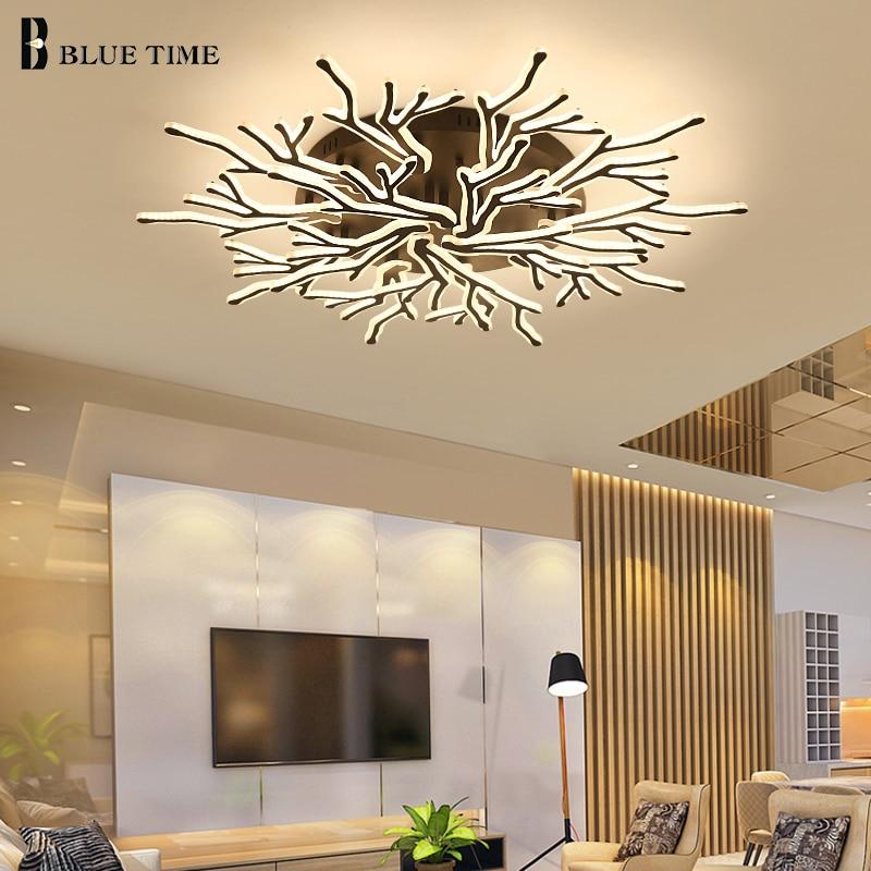 Современные светодиодные потолочные лампы для гостиной, спальни, кухни, столовой, акриловые потолочные лампы, домашние светильники, черные