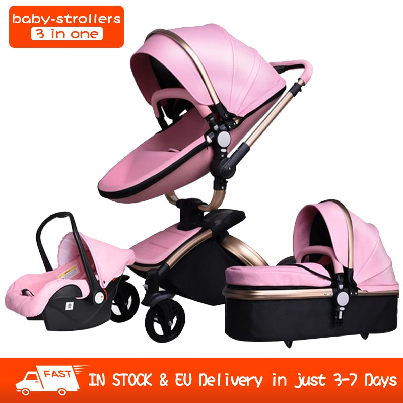 Baby Stroller 3 in 1 tricycle baby walker High Landscape Stroller Folding strollers baby trolley baby pram for baby