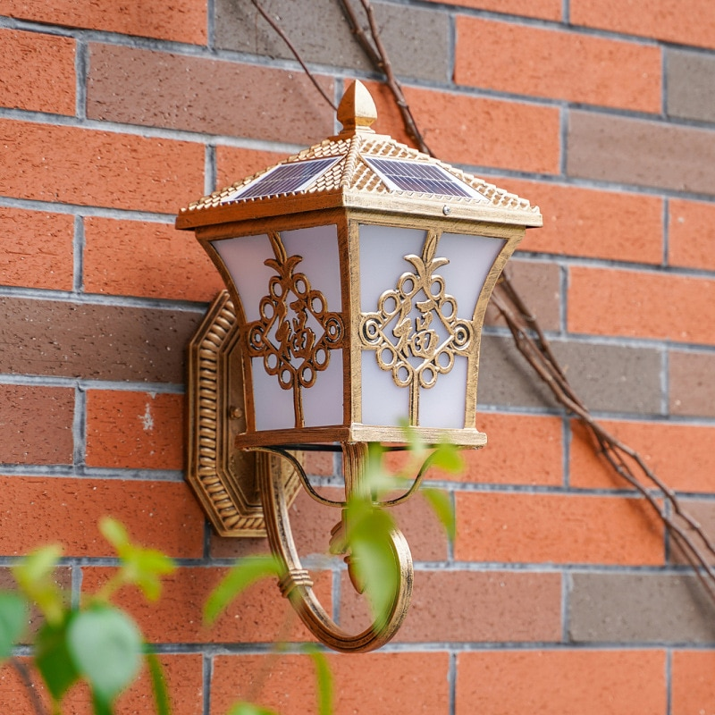 Solar Power LED Light Path Way Wall Landscape Mount Garden Fence Lamp Outdoor Home improvement Home accessories Solar wall light enlarge