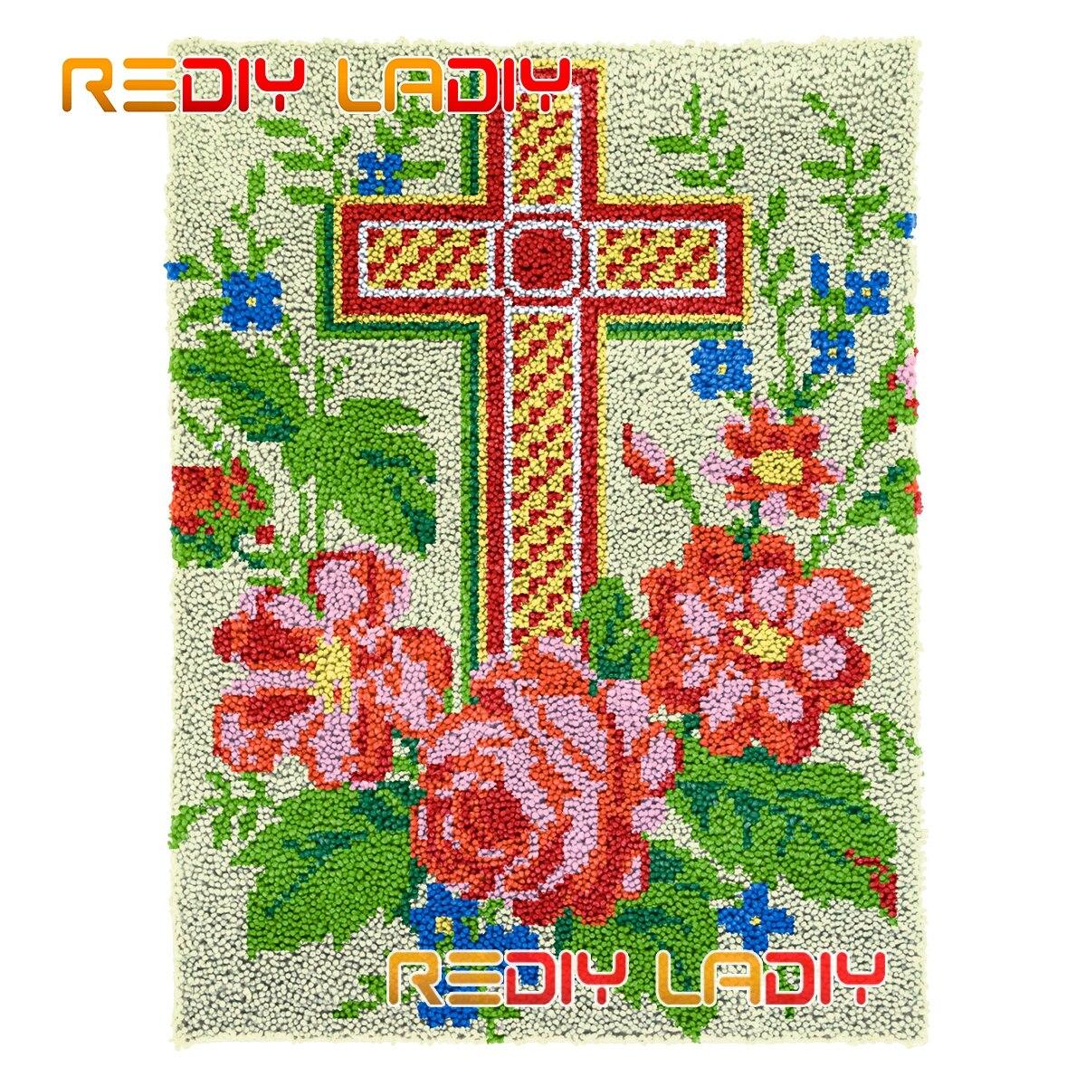 Latch Hook Rug Kits Forever Memory DIY Carpet Rug Plush Wall Hanging Chunky Yarn Arts Cushion Crocheted Floor Mat Hobby & Crafts