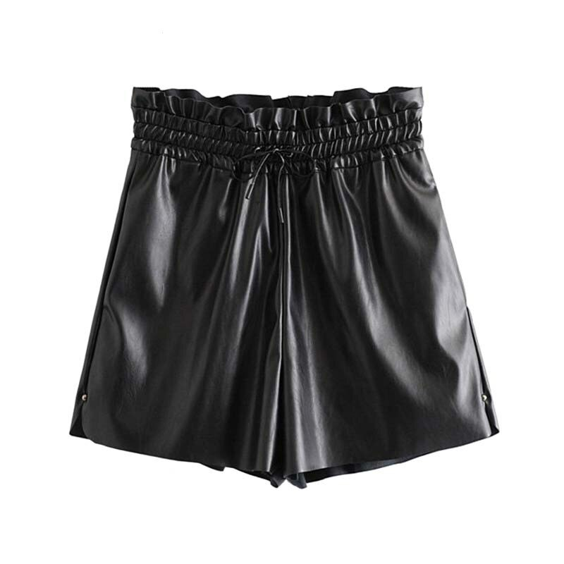 High Waisted Shorts for Women Stylish Black Drawstring Tie Elastic Waist Shorts Pockets Casual Chic Solid Female Shorts