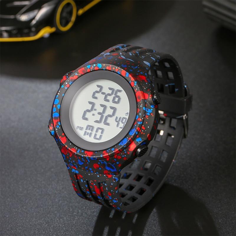 Sports Watch Boys Waterproof Children's TPU Stape Luminous Stopwatch Alarm Clock High Quality Men's Digital Watch