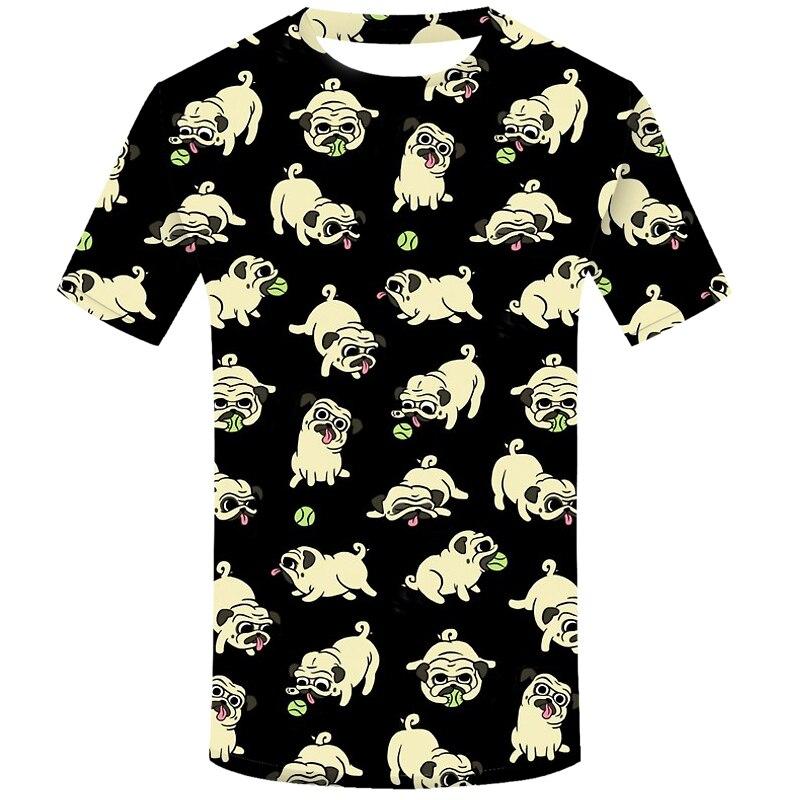 Camiseta divertida de Pugs juguetón para Hombre Ropa de Hip Hop Camiseta de manga corta Streetwear impresión 3d camiseta de moda para hombre 2020 camiseta divertida de verano