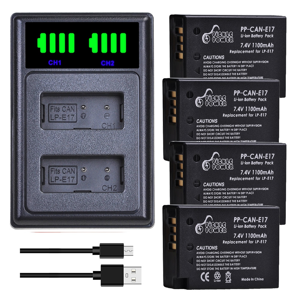 LPE17 LP E17 LP-E17 Battery Charger Kits for Canon EOS 200D M3 M5 M6 750D 760D T6i T6s T7i 800D 8000D Kiss X8i Camera Accessorie