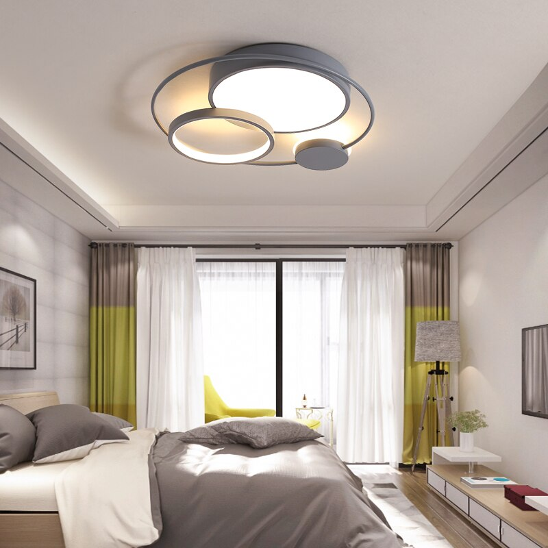 NEO بريق سقف ليد حديث أضواء لغرفة المعيشة غرفة نوم غرفة الدراسة أسود أبيض أو رمادي اللون تركيبات مصباح السقف