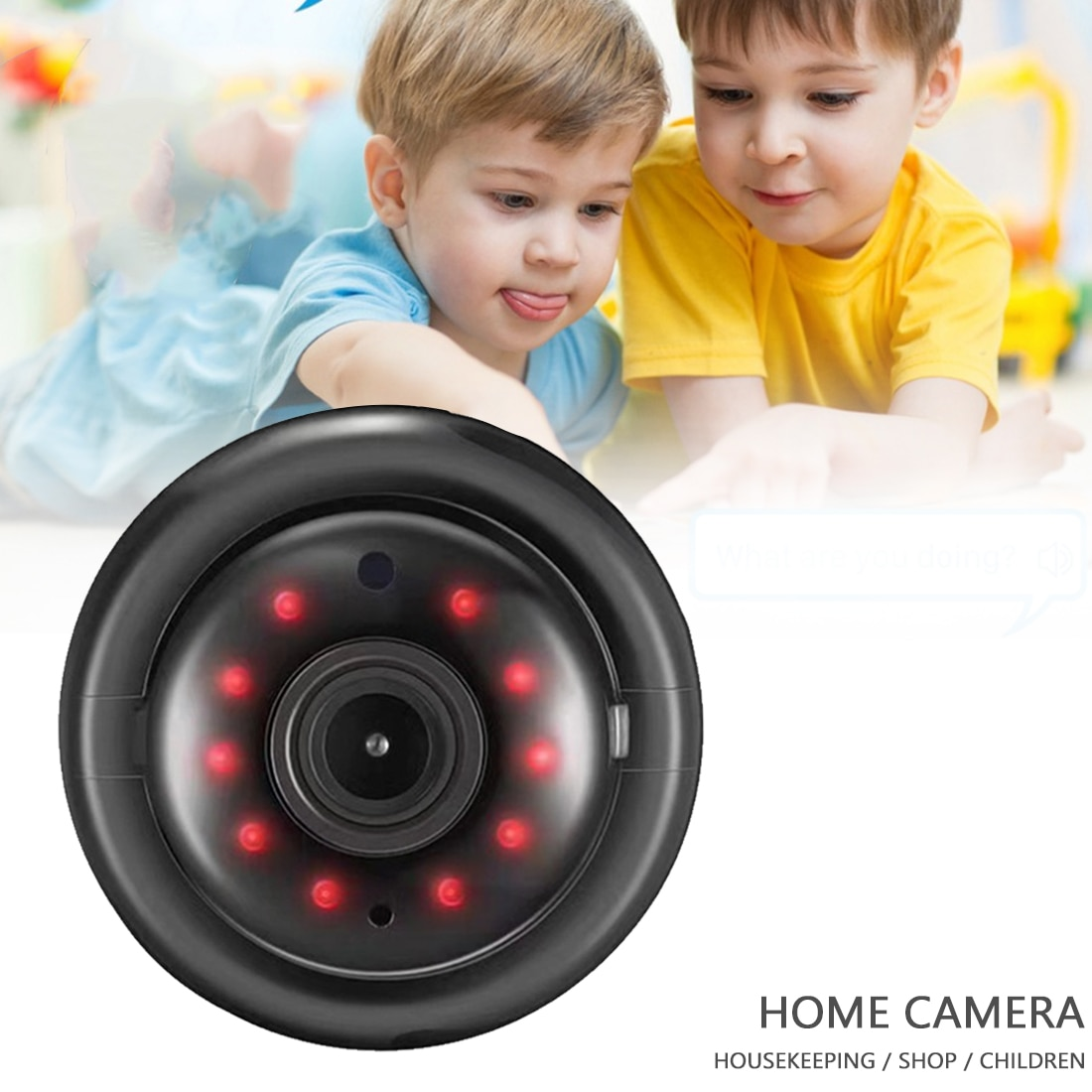 Home Security WIFI Camera Wireless HD IP Camera Two Way Audio Night Vision Video Monitor 360 Degree Panoramic Home Security HD