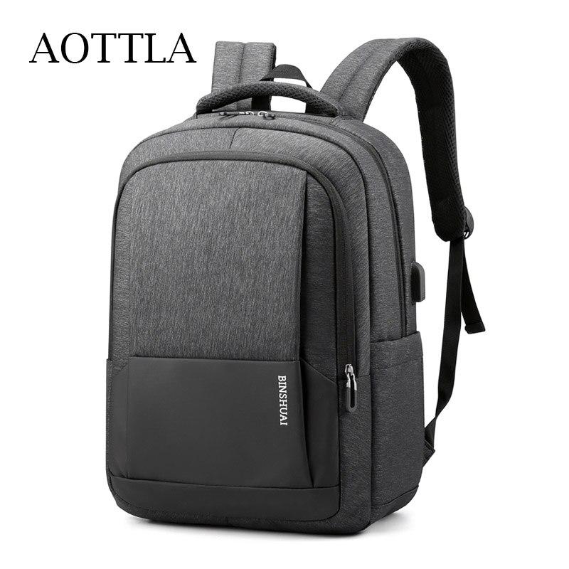 AOTTLA Backpack For Laptop Men's Backpack Big Capcaity 15.4 Inch School Backpack Male Nylon Casual Shoulder Bag Sports Backpack