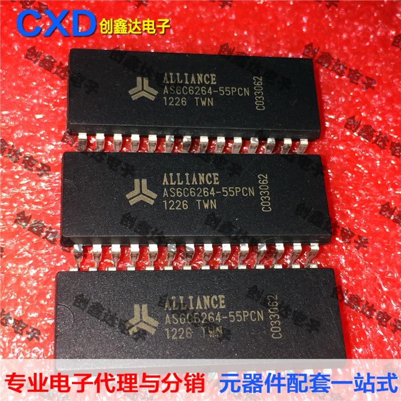 5 piezas AS6C6264-55PCN CMOS SRAMIC Original