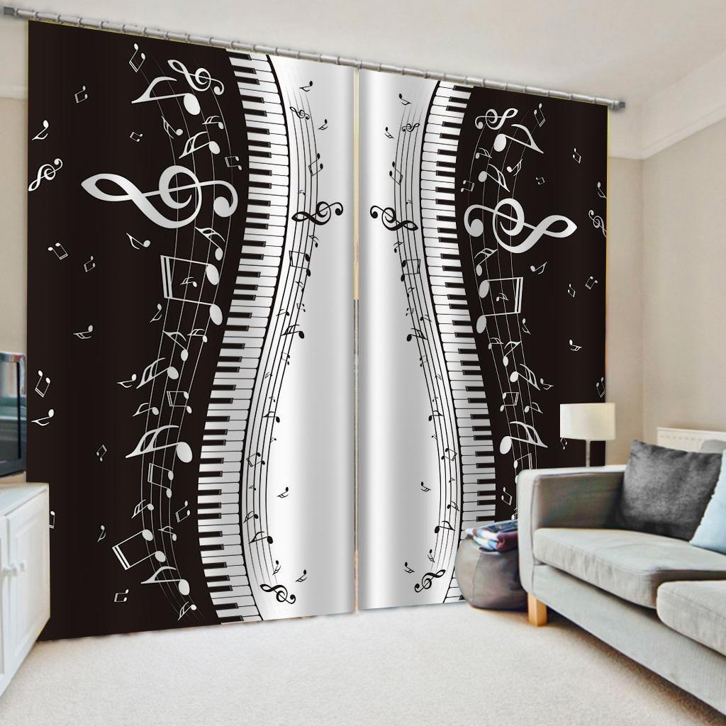 ستارة ثلاثية الأبعاد فاخرة من الحرير الأوروبي ، ستائر فاخرة بالأبيض والأسود لغرفة المعيشة وغرفة النوم