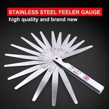Professional Stainless Steel Metric Feeler Gauge 100mm 0.02-1.00mm Thickness 17 Blades Feeler Gauge for Gap Valve Measure Tool