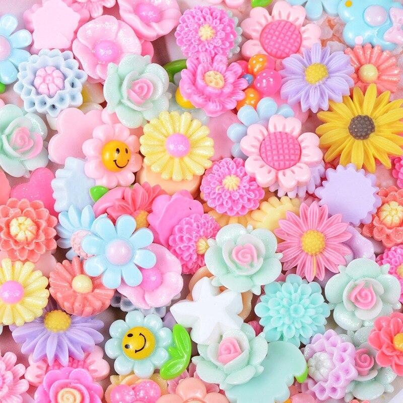 Diy Flor de resina para manualidades infantiles dije de limo relleno esponjoso juguetes creativos para Niños Accesorios para casa de muñecas herramientas de molde de arcilla
