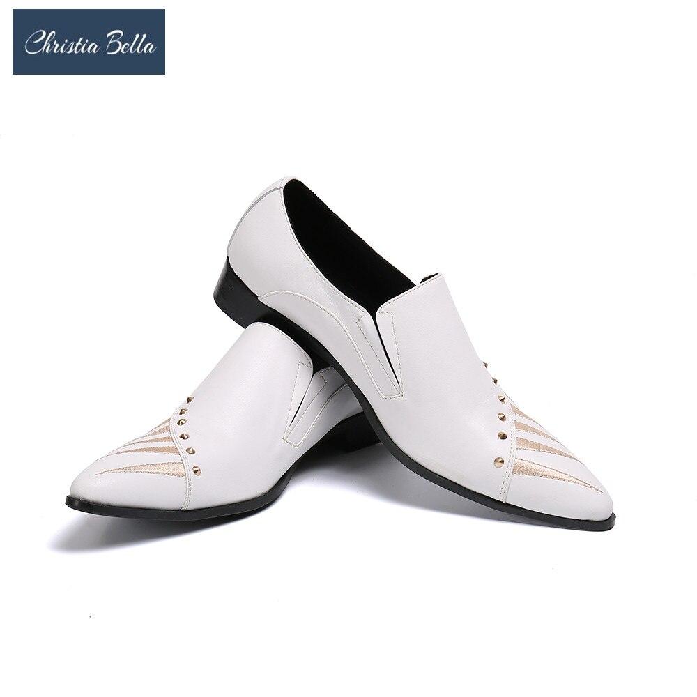كريستا بيلا-حذاء أكسفورد رجالي مطرز ، حذاء صيفي رسمي ، مسامي ، بدون أربطة ، مقاس كبير