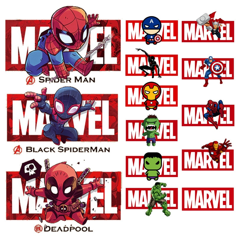 AliExpress - Disney Marvel Patches Spiderman Captain America iron Man Ironing Hot Transfers Clothing Patch Clothes Pants Sticker Decration