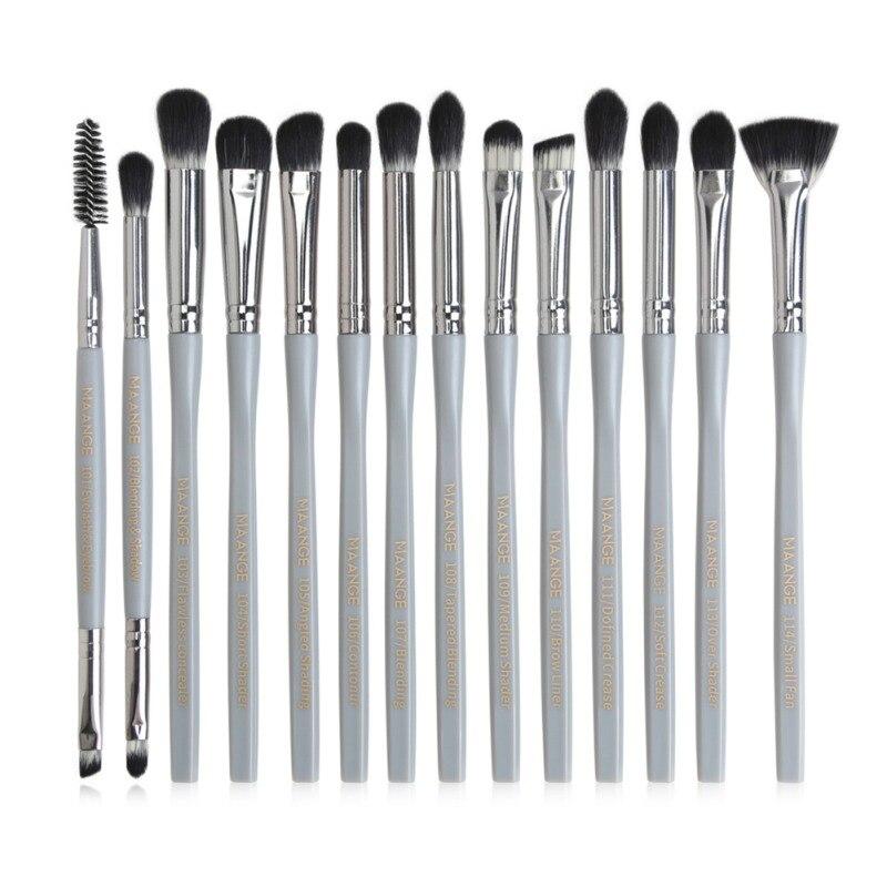 14 pçs pincéis de maquiagem conjunto fundação pó blush ocultador sombra lábio olho maquiagem escova cosméticos beleza tool1