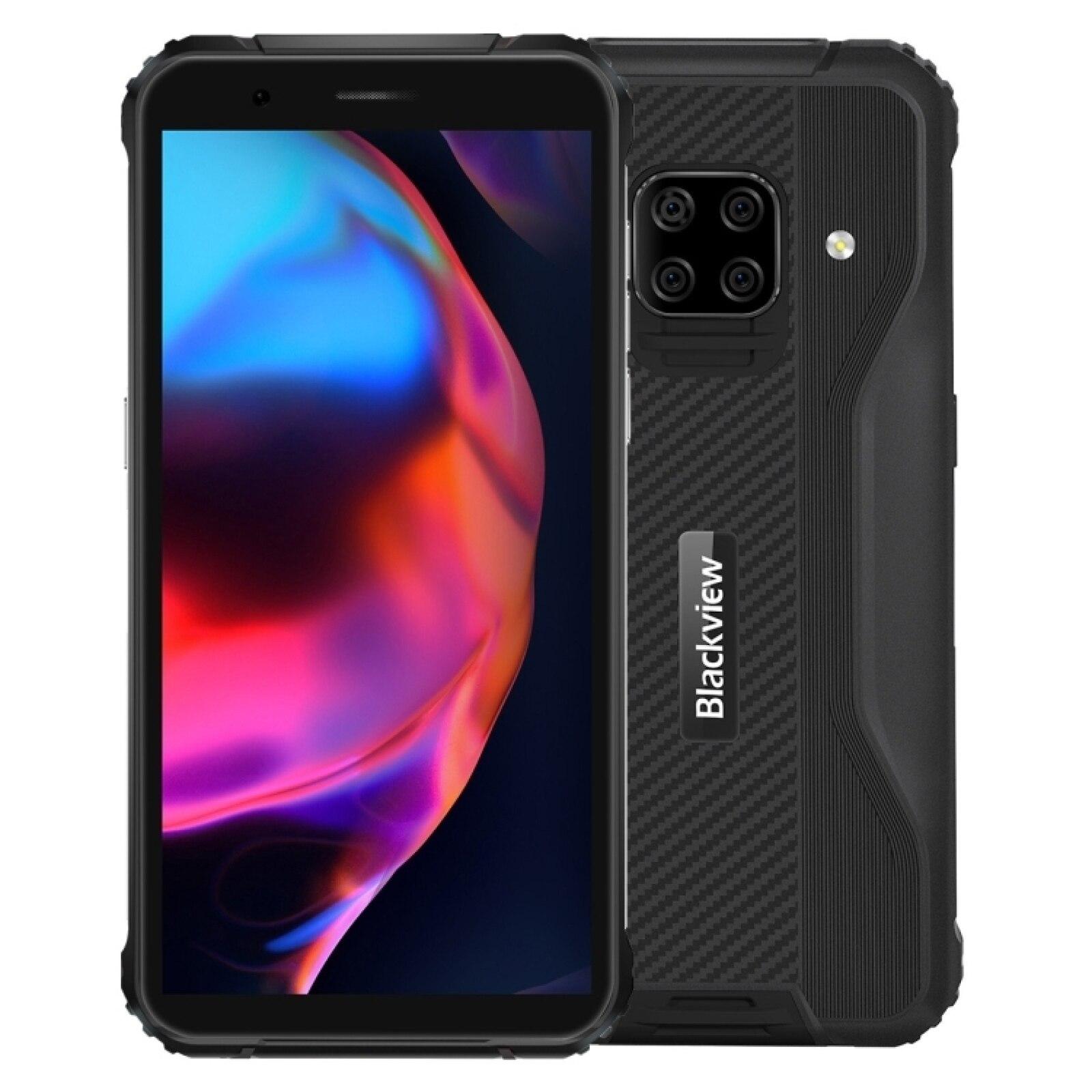 Перейти на Алиэкспресс и купить Blackview BV5100 прочный смартфон 4 + 64 ГБ 5,7 дюймЭкран 5580 мА/ч, Helio P22 Octa Core Android 10 NFC 4G мобильный телефон Беспроводной заряда