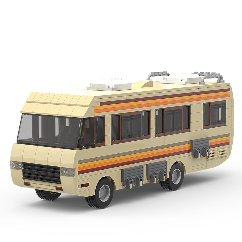 AliExpress - MOC Classic Movie Breaking Bad Car Building Blocks Kit Walter White Pinkman Cooking Lab RV Vehicle Model Toys For Children Gifts