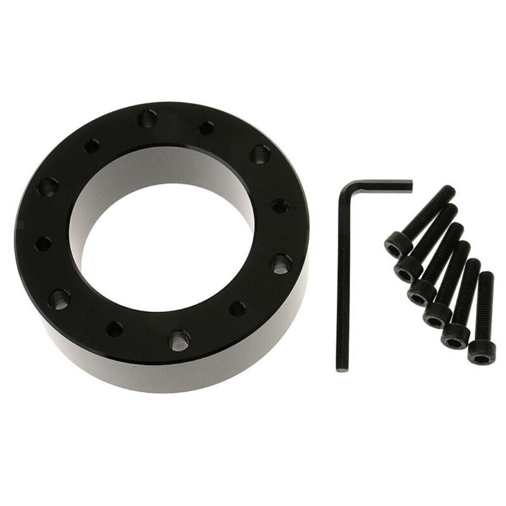 Conjunto de perno espaciador de junta de volante de aluminio negro para Momo Sparco NRG duradero y práctico