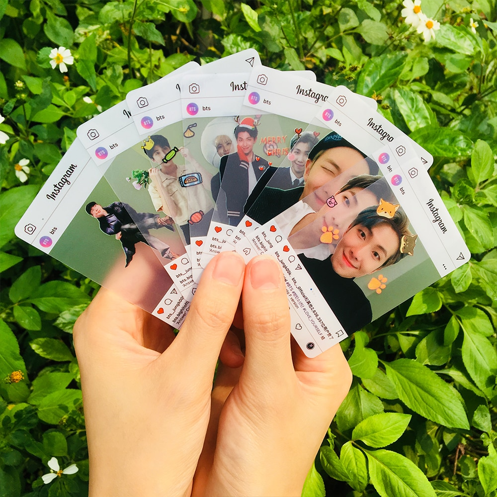 Personalized Transparent PVC Plastic Business Card Printing Waterproof Instagram 200 Pieces / Set