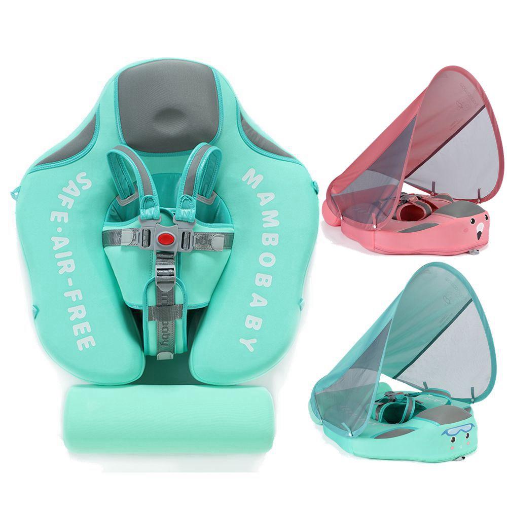 Baby Infant Non-Inflatable Float Lying Swimming Ring Children Waist Float Ring Floats Pool Toys Swim Trainer Sunshade Swim Ring