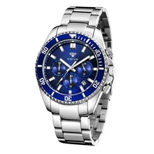 watch for men Fashion Business Waterproof +gift boxQuartz Wrist Watch Men Top Brand Luxury Stainless