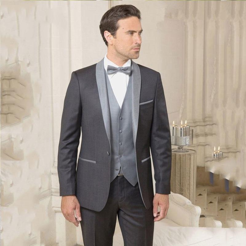 Traje de boda para hombre gris americana para hombre de esmoquin de...