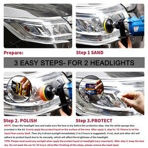 Image 4 - LUDUO DIY наборы для восстановления фар, наборы для полировки фар, системы очистки пасты, уход за автомобилем, лампы для мытья головы, отбеливатель для восстановления и ремонта