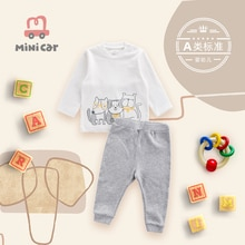 Children's clothes baby clothes boys' baby pajamas T-shirt bottom coat suit spring and autumn winter