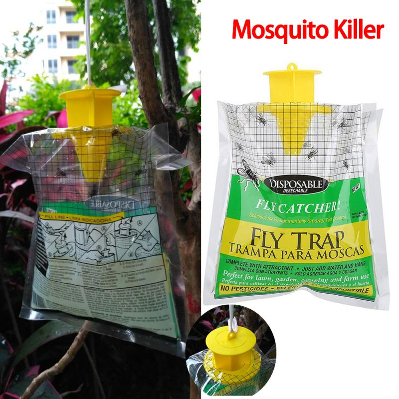 Hanging Flycatcher Disposable Fly Trap Summer Mosquito Trap Catcher Fly Wasp Insect Bug Killer Fly Catcher Garden Tools TSLM1