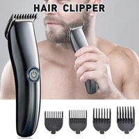 mens electric hair clippers hair trimmer rechargeable cordless hair grooming kit with 4 guide combs razor hairdresse