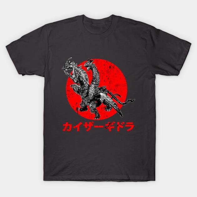 Мужская футболка Kaiser Ghidorah Футболка женская футболка