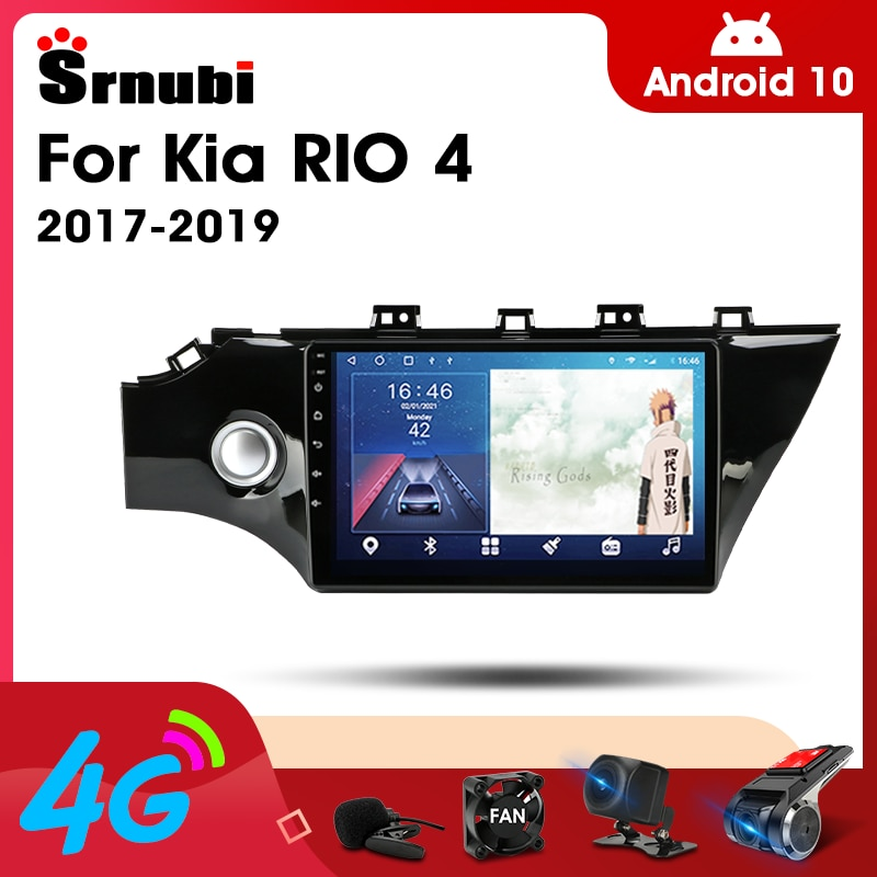 2 Din Android 10.0 Car Player Stereo Audio Radio for KIA RIO 4 2017- 2019 Multimedia Video Touch Screen 4G Wifi Speaker MP5 DVD