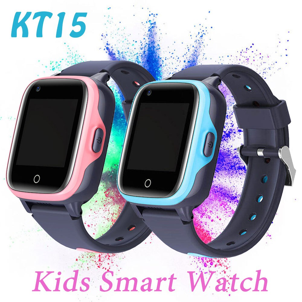 Smartwatch KT15 Kids Watch 4G Sim Card Video Call Band for Gifts GPS SOS Tracker Relogio Inteligente Smart Watch For boys girls