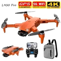 new l900 pro 4k hd dual camera with gps 5g wifi fpv real time transmission brushless motor rc distance 1 2km professional drone