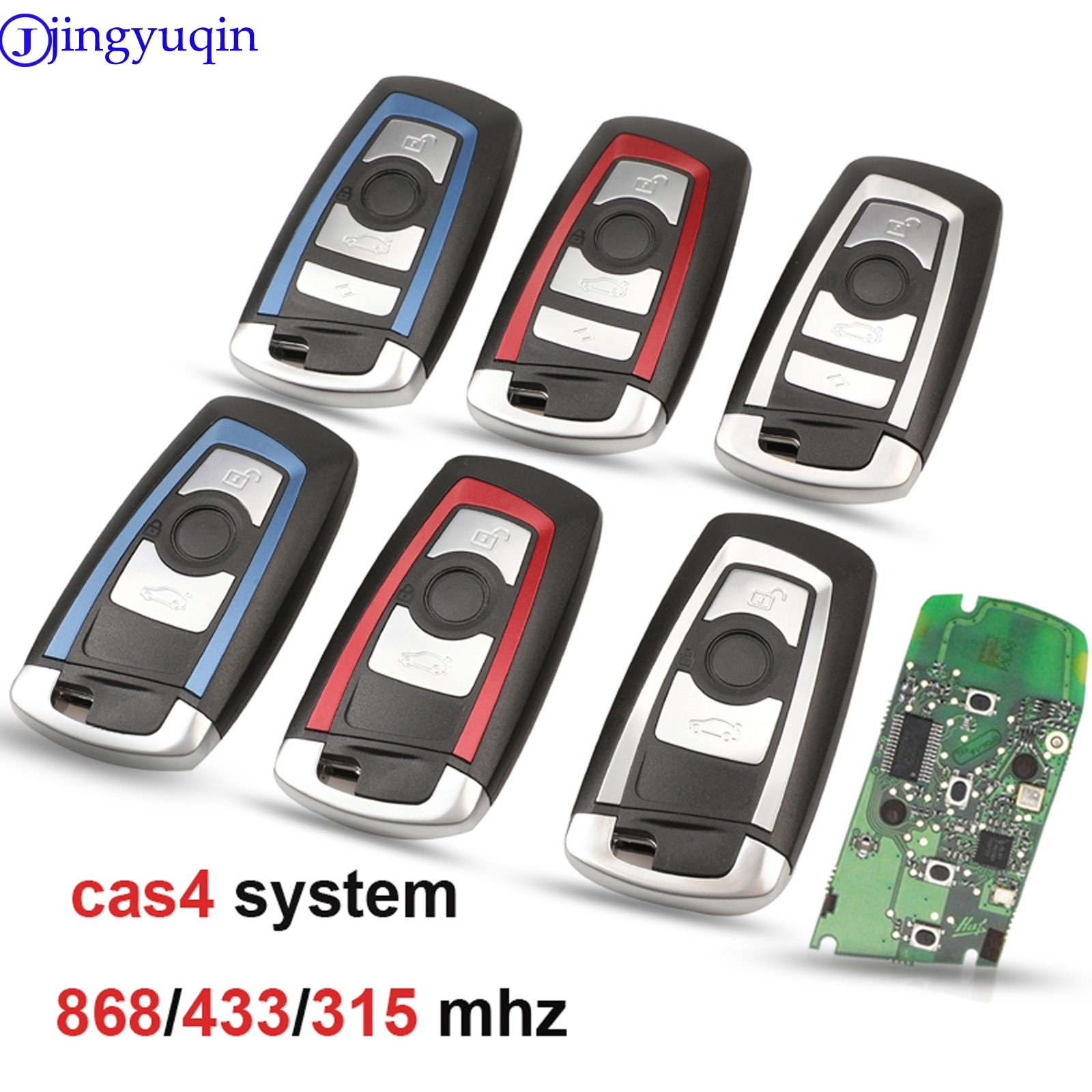 jingyuqin 5ps CAS4 868/315/433mhz Car Remote Smart Key For BMW 1 3 5 7 Series CAS4 System Auto Vehichle Alarm Keyless Fob