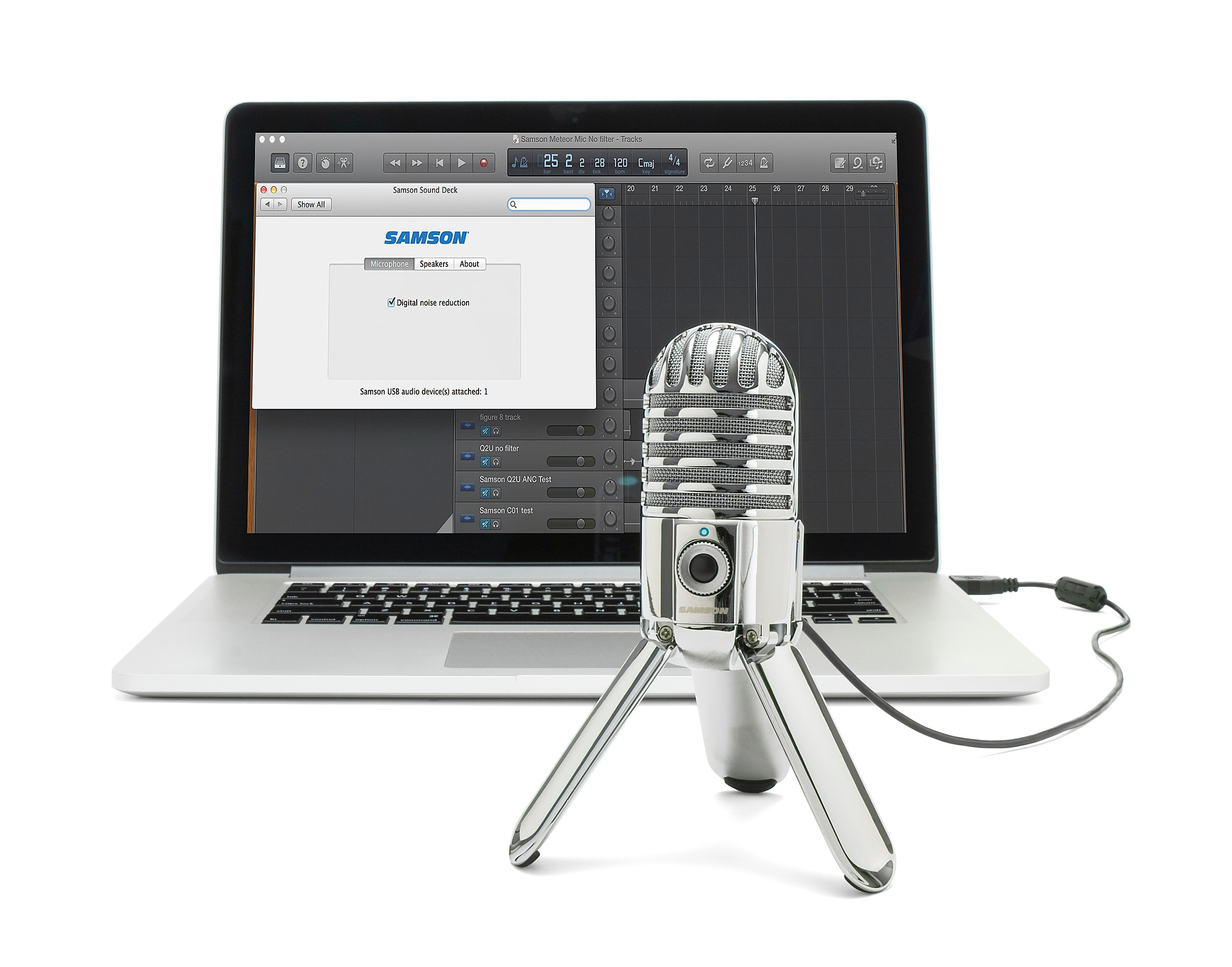 100% Original Samson Meteor USB Studio Condenser Microphone With Headphone Output For Journalism Home Video VOIP Record Gaming enlarge