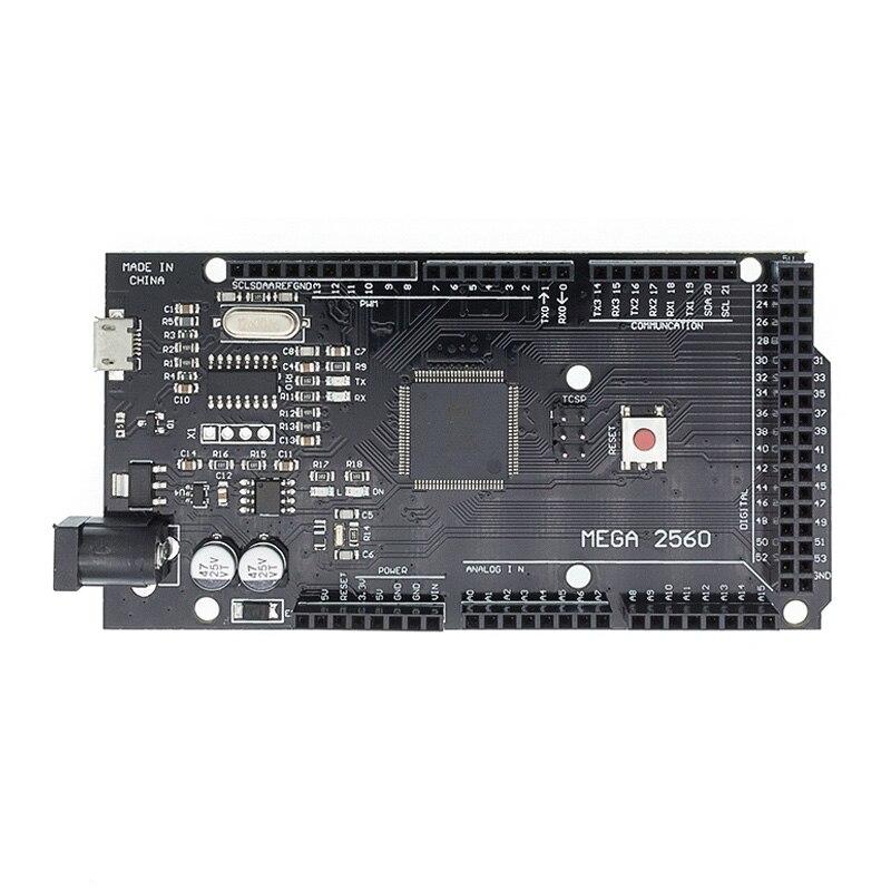 10 шт. Mega 2560 R3 CH340G/ATmega2560-16AU MicroUSB. Совместим с Mega 2560 с Загрузчиком (hei)